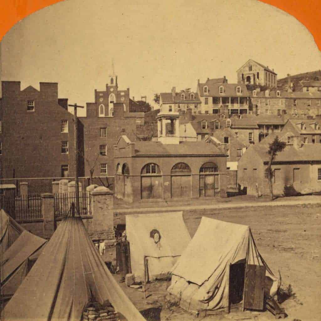 Harpers Ferry in 1862.